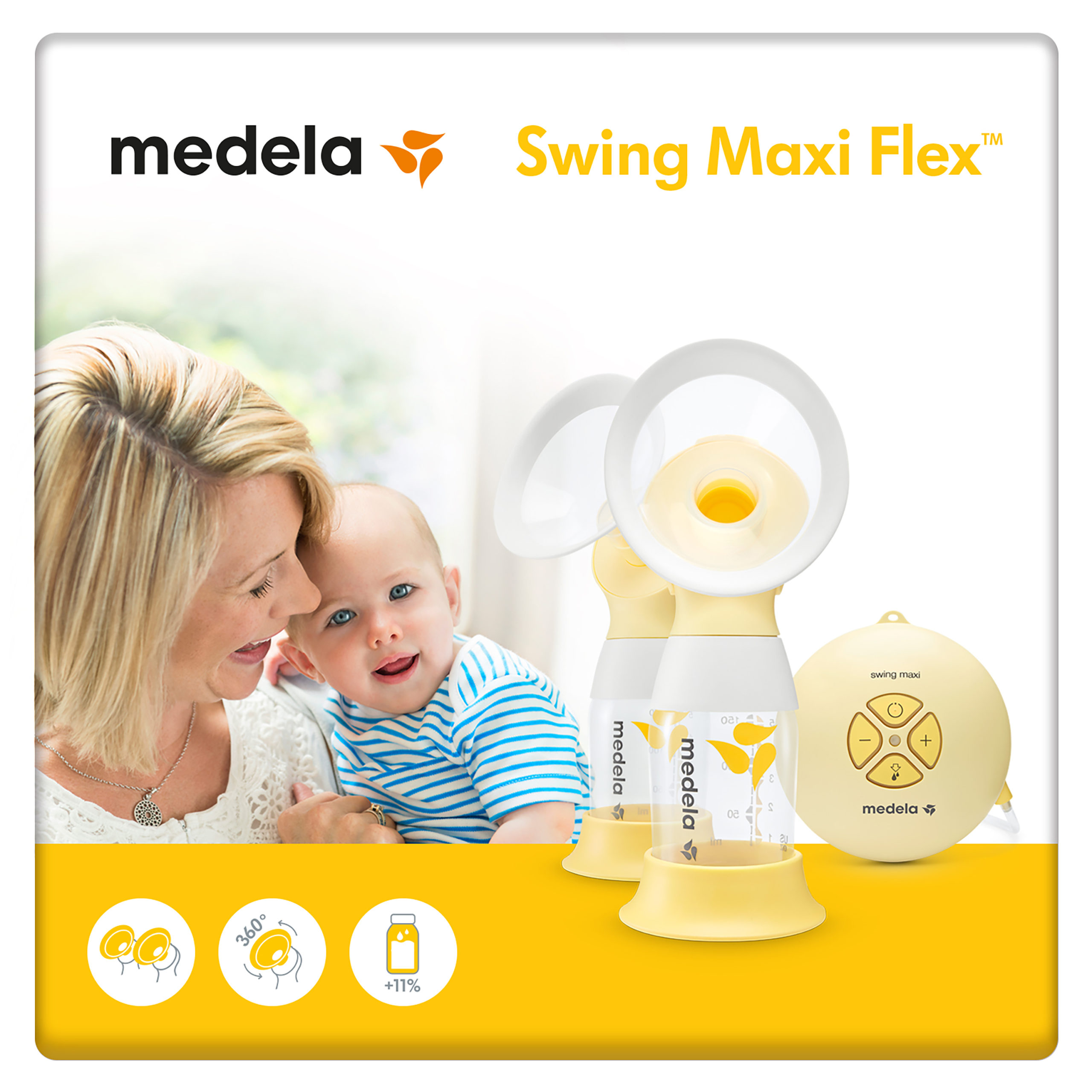 Swing Maxi Flex 2 Phase Double Electric Breast Pump Medela